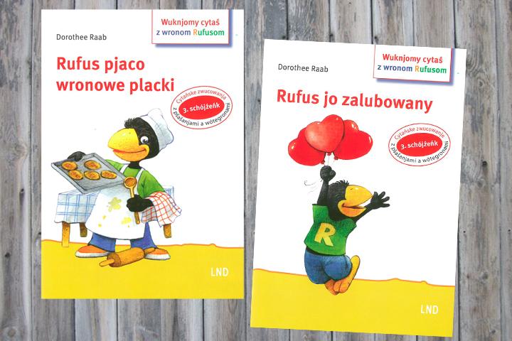 Zwei weitere Hefte mit dem Schelm Rufus in niedersorbischer Sprache