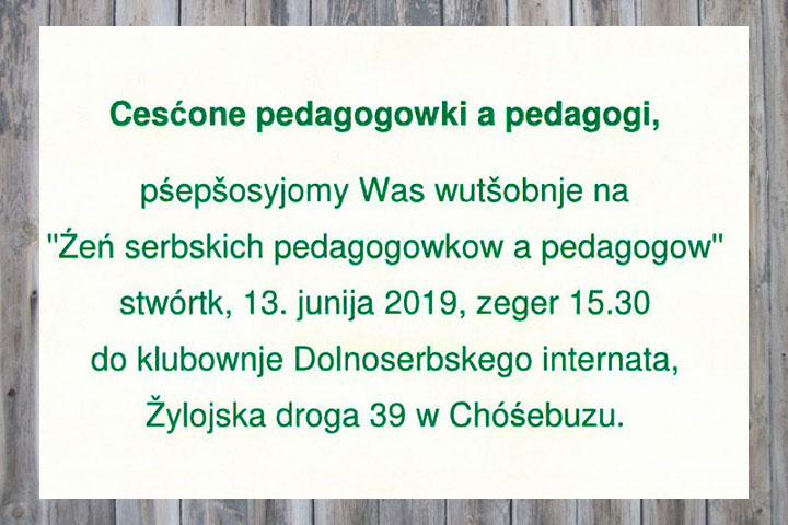 Tag sorbischer Pädagoginnen und Pädagogen