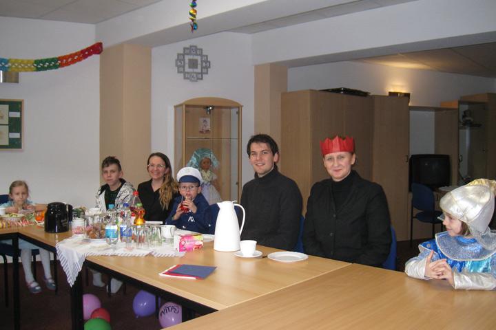 Sorbische Familien haben Fasching gefeiert