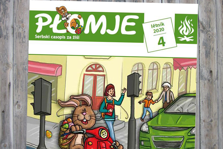 Aprilausgabe der Płomje online