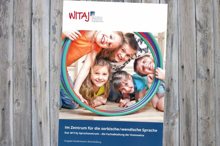 Erste Imagebroschüre des WITAJ-Sprachzentrums Cottbus