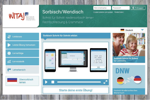"""Niedersorbisches digitales Lehrbuch """"Schritt für Schritt"""" im Internet zugänglich"""