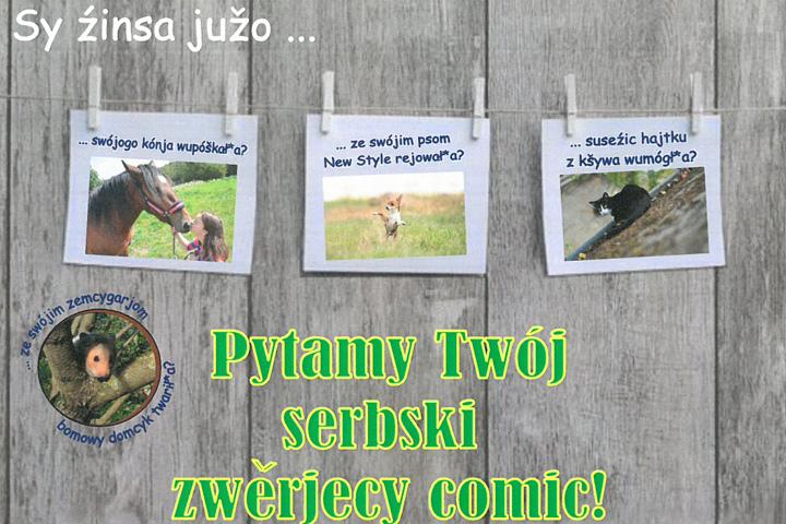 Wir suchen dein sorbisches Tier-Comic!