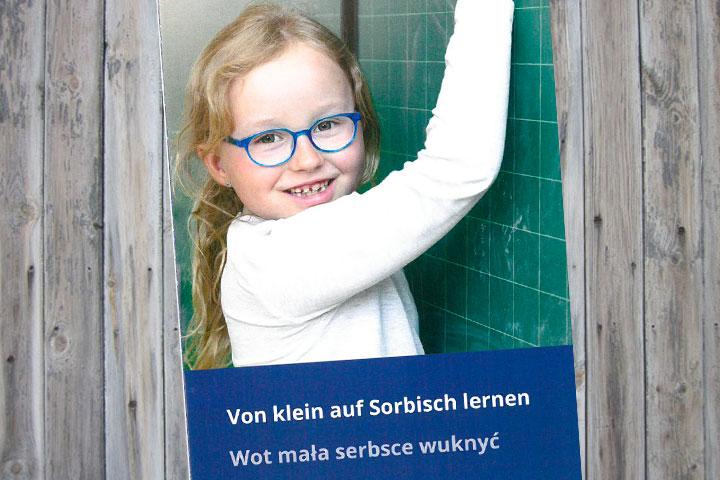 Flyer: Von klein auf Sorbisch lernen